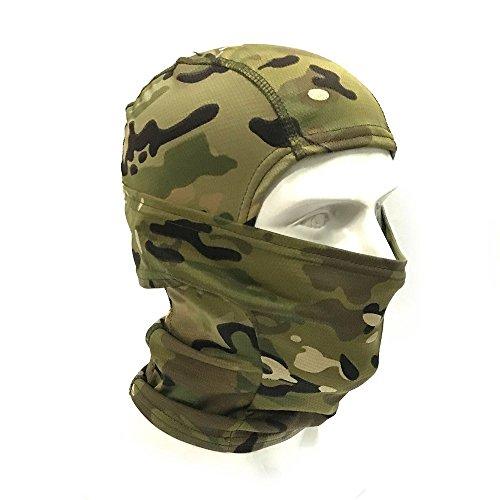 CiyuHome Tactical hood Camo Face Mask Balaclava men Outdoor Cycling Motorcycle Hunting Military Training(Terrain camo)