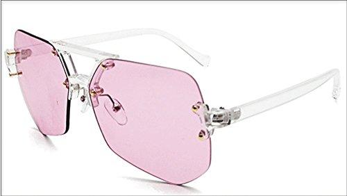 Anti Gafas Ultravioletas Sin Sol Ceniza Gafas Rayos Metal Gafas Sol Irregulares Gafas Damas De JUNHONGZHANG para De De polvo Marco Ax8wgg
