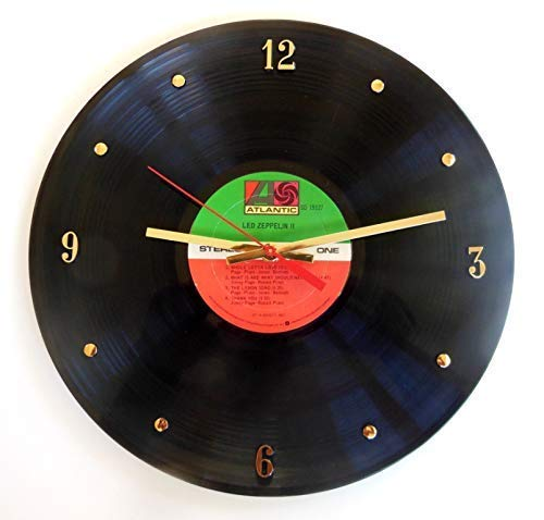 Led Zeppelin Vinyl Record Clock (Atlantic Label). Handmade 12