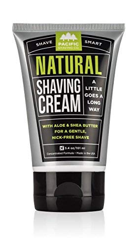 Pacific Shaving Company Natural Shave Cream - with Safe, Natural, and Plant-Derived Ingredients for a Smooth Shave, Softer Skin, Less Irritation, No Animal Testing, TSA Friendly, Made in USA, 3.4 oz from Pacific Shaving Company