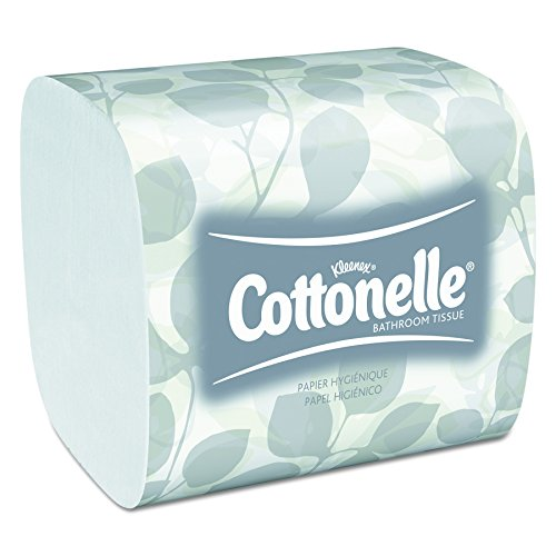 """Cottonelle Hygienic Bathroom Tissue (48280), Soft 2-Ply, Single Pull, 250 Sheets / Pack, 36 Packs / (2 Ply Single)"