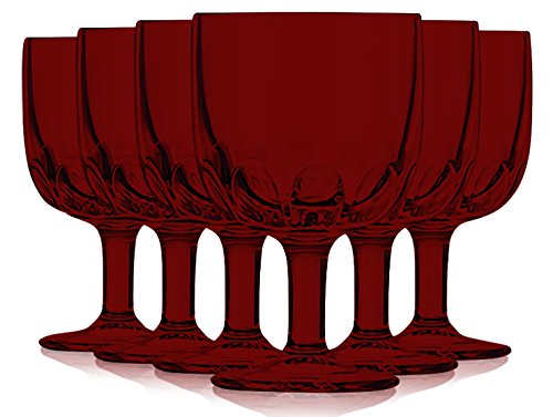 Libbey Aqua Goblet Glasses 10 oz. set of 6 - Additional Vibrant Colors Available by TableTop King