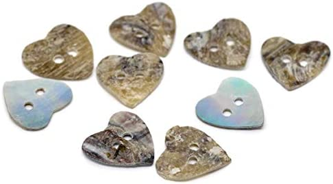 Scrapbooking Verzierung 15 x 15 mm Dylandy Kn/öpfe Stricken Herzform Basteln 100 St/ück Dekoration Muschel Perlmutt zum N/ähen