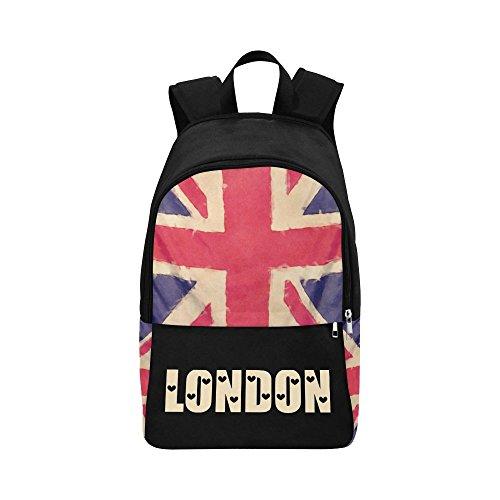 h UNION JACK flag grunge style Casual Shoulders Backpack Travel Bag School Backpacks ()