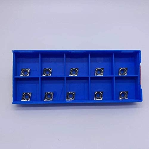 WITHOUT BRAND 10pcs Karbid-Einsätze CCGT060202 / CCGT060204-AK H01 Interne Drehplatten Drehwerk CNC Aluminiumbearbeitung (Größe : CCGT060204 AK H01)