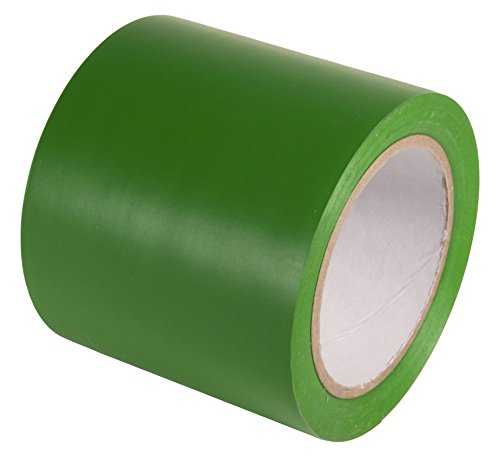INCOM Manufacturing: Vinyl Aisle Marking Tape - Abrasion Resistant, 4 x 108, Safety Green - Ideal for Walls, Floors, Equipment