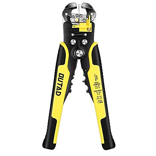 OUTAD Wire Strippers, Self-Adjusting Insulation Stripper Wire, For AWG 10-24, Automatic Wire Stripping Tool Cutting Pliers Tool, 1 Piece