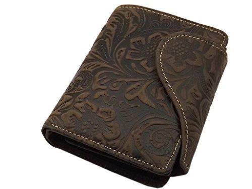 Vacchetta portafoglio per donna con blocco RFID & NFC (Marrone)