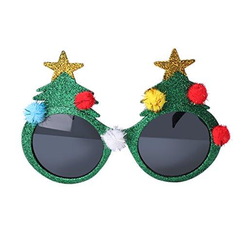 Yumian Glitter Christmas Tree Sunglasses Glasses Fancy Dress Party Xmas Decor Eyewear - Sunglasses Tree Christmas