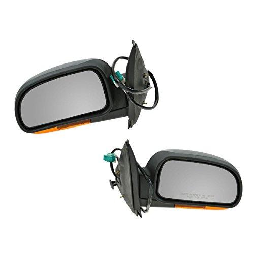 Power Heated Amber Signal Mirror Pair Set for Trailblazer Envoy Bravada (Gmc Envoy Power Heated Mirror)