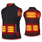 Cenow Unisex Heated Vest, Heating Jacket with 5 Heating System, Free Control with Dual Button, Sleeveless & Adjustable Sides