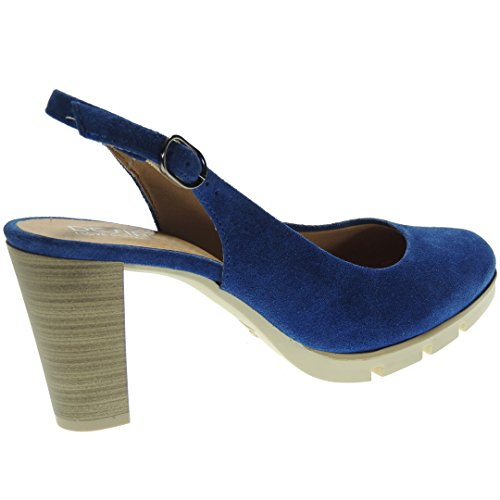 Desiree 8cm Tacón Ancho 2102 Para Serraje Descubierto Zapato Eléctrico Mujer rvwqrYUS