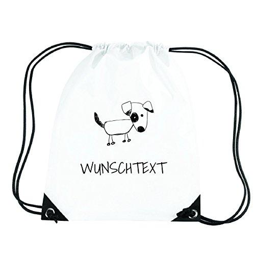 JOllipets WUNSCHTEXT Turnbeutel Sport Tasche PGYM0000 Design: Hund zVkKxuz