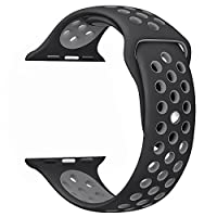 AdMaster Apple Watch Bands 38mm 42mm,Soft Silicone Replacement Wristband for iWatch Apple Watch Series 1/2/3