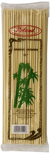 Roland Foods Bamboo Skewers, 12 Inch, 100 Count (Pack of 10)