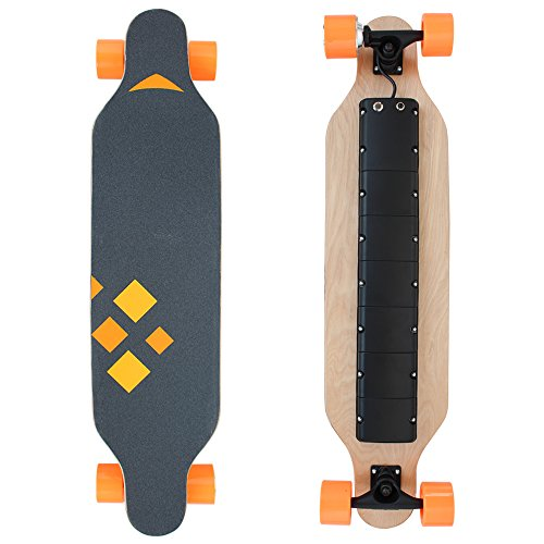HAITRAL-Motorized-Electric-Skateboard-37-Inches-Maple-9-layers-as-Transportation-Electric-Longboard-with-Wireless-Handheld-Remote-Control
