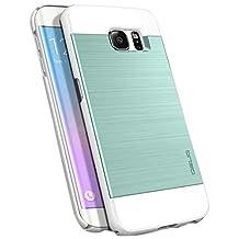 Galaxy S6 Edge Case, OBLIQ [Slim Meta][Emerald Mint] Thin Bumper Fit Armor Scratch Resist Metallic Finish Dual Layered Heavy Duty Hard Protection Hybrid High Quality Case (for Samsung Galaxy S6 Edge)