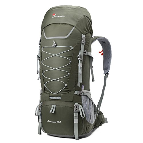 75l Internal Frame Pack (Mountaintop 75L Outdoor Sport Water-resistant Internal Frame Backpack Hiking Backpack with Rain Cover for Climbing,camping,hiking,Travel and)