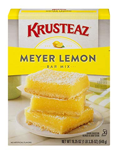 Krusteaz Meyer Lemon Bar Mix - No Artificial Flavors or Preservatives - 19.35 OZ (Pack of 12)