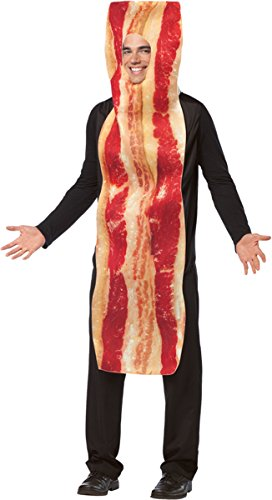 Bacon And Egg Costume Accessories (Rasta Imposta Bacon Adult One Piece Fried Egg Costume)