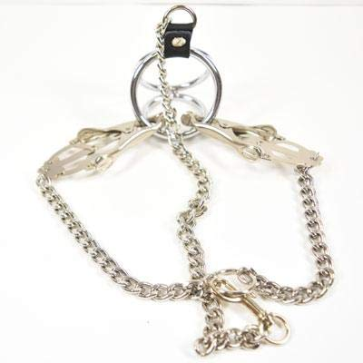 Metal Pleasure Play Clover Weighted Nipple Clamps (Silver)