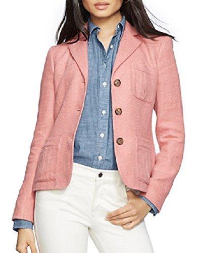 Linen Silk Coat - Lauren Ralph Lauren Women's Linen-Silk Three-Button Jacket