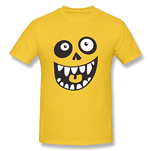 Men Eyes,nose And Mouth Tee,Yellow T-shirts By HGiorgis XL Yellow (Wiz Nose)