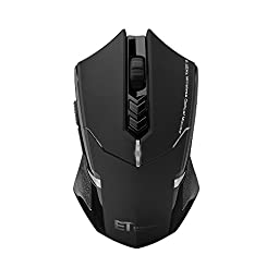 Habor Gaming Mouse Wireless Optical Mice 2400 DPI 7 Buttons Computer Mouse for PC Laptop Notebook