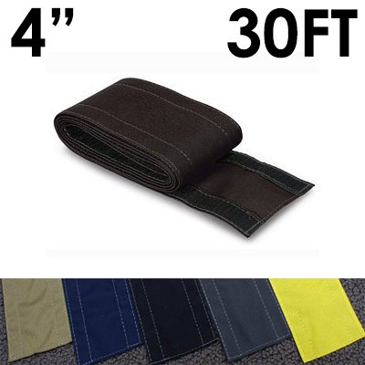 4'' SafCord Carpet Cord Cover - Length: 30FT - Color: Black by Electriduct