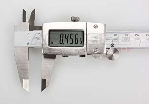 AccusizeTools - IP67, 6'' Water/Oil Proof Electronic Digital Caliper, Metal Cover, Metric/Inch, #1199-W616 by Accusize Industrial Tools (Image #2)