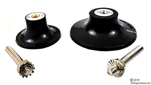 "2"" & 3"" Sanding Disc Holder Roloc Roll & Lock Rotary Pad Holder 1/4"" Shank"