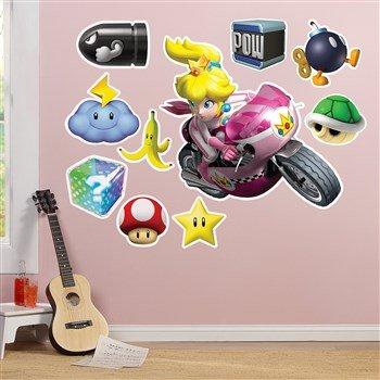 [Mario Kart Wii Princess Peach Giant Wall Decal] (Mario Princess Peach Costumes)