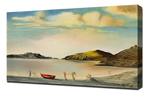 Salvador Dali Port Lligat Au Coucher Du Soleil - Canvas Art Print Reproduction