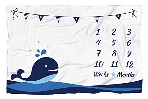 Top recommendation for nautical milestone blanket boy