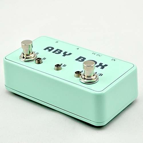 NEW Bass guitar ABY mini seletor combiner footswich AB box pedal guitarra true bypass light Blue by LANDTONE