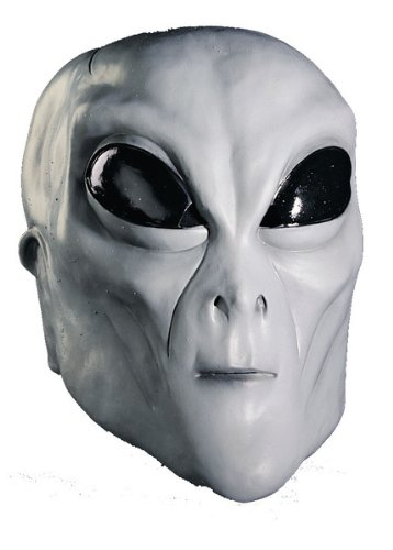 Rubie's Costume Co Grey Alien Latex Mask Costume (Alien Child Mask)