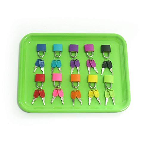 Zozu Plastic Montessori Tray Locks Set Educational Sensory Toys For Children Montessori Preschool Sensorial Materials Juguetes (10 lock with tray)