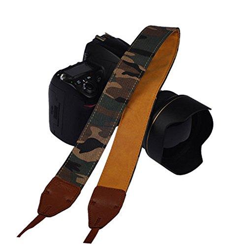(Mavota Camouflage Stripe Camera Shoulder Neck Strap Camera Belt For Canon Nikon Olympus Panasonic Pentax Sony DSLR Digital Cameras)