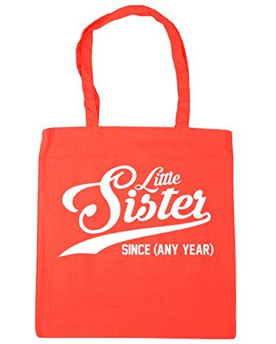 HippoWarehouse personalizado Little Sister desde (cualquier año) bolso de compras bolsa de gimnasio playa 42cm x38cm, 10litros, verde menta (verde) - 21521-TOTE-Mint coral