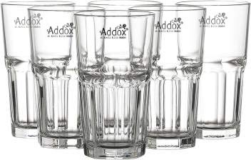 Addox® Crystal Clear Glass Water 6 Pcs 315 ml Juice Cold Drink Shakes Mocktail Drinking Glass Price & Reviews