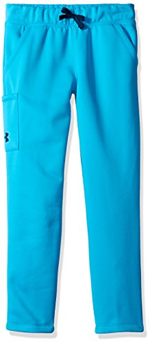 Under Armour Girls' Armour Fleece Pants,Blue Shift (929)/True Ink, Youth Large
