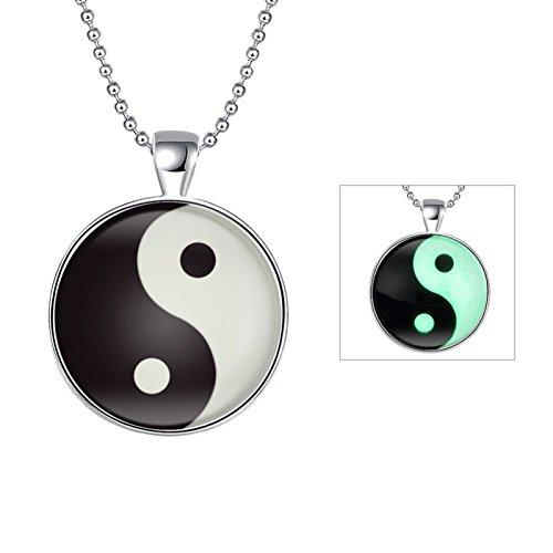 Tai Chi Tower (ptk12 New Creative Luminous Chinese Style Tai Chi Bagua Design Luminous Necklace Scorpion Pendant)
