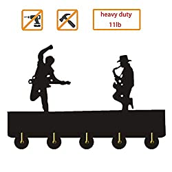 Bruce Springsteen and Clarence Clemons_Exclusive Wall Clock Made of Wall Decor Hooks Household Decor Hooks Multi-Purpose Wall Coat Bags Clothes Hook Keys Holder