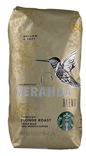 Starbucks - Roasted Whole Bean Coffee - Veranda Blend - 16 oz - Pack of 2 (Veranda Blend)