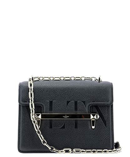 7725a1f30b Valentino Women's RW2B0C93HUA0NO Black Leather Shoulder Bag | Weshop ...