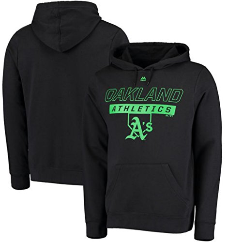 Majestic Hood Athletic (VF Oakland A's MLB Mens Majestic Ready and Able Pullover Fashion Hoodie Black Big & Tall Sizes (3XT))