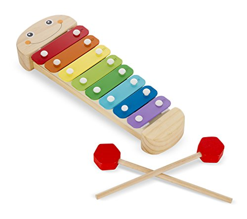 41R6HtCNDuL - Melissa & Doug Caterpillar Xylophone Musical Toy With Wooden Mallets