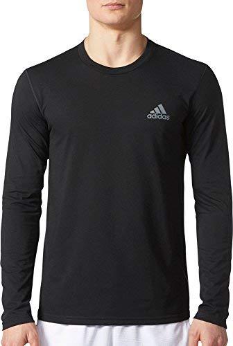 adidas Mens Training Ultimate Long Sleeve Tee, Black, Medium