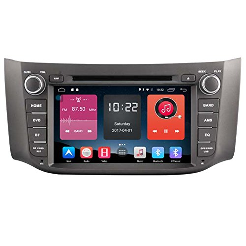Autosion In Dash Android 6.0 Car DVD Player Sat Nav Radio Head Unit GPS Navigation Stereo for Nissan Sylphy 2012 2013 2014 2015 2016 2017; B17 2012-2017 Support Bluetooth SD USB Radio WIFI DVR 1080P by Autosion