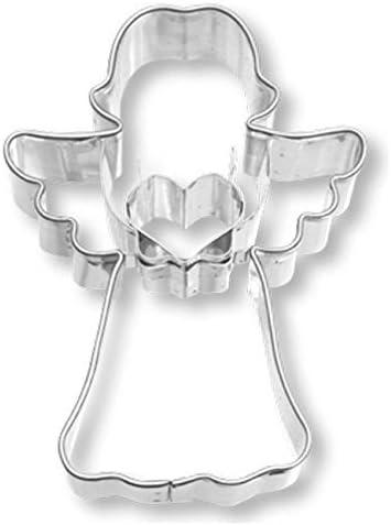 acciaio inox. misura piccola 7 cm Stampino per biscotti a forma di angelo